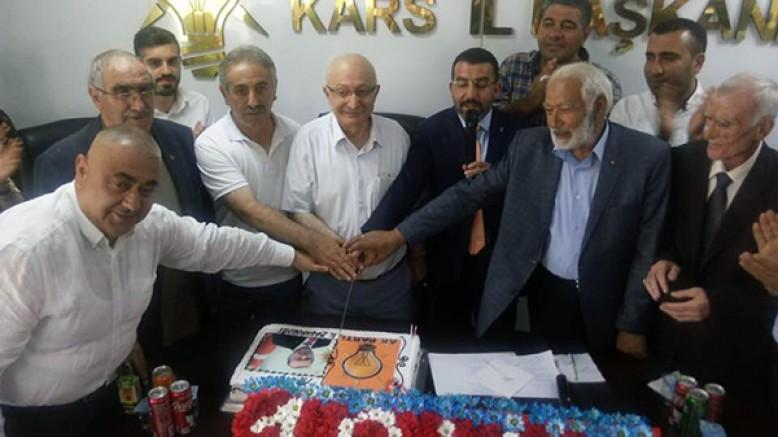 AK Parti Kars İl Başkanlığı 18'nci yaşını kutladı
