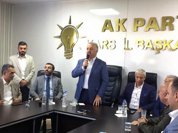 AK Parti Kars İl Başkanlığında Bayramlaşma programı