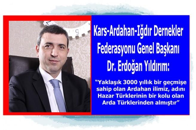 Başkan Erdoğan Yıldırım'ın, Ardahan'ın Kurtuluş yıl dönümü mesajı