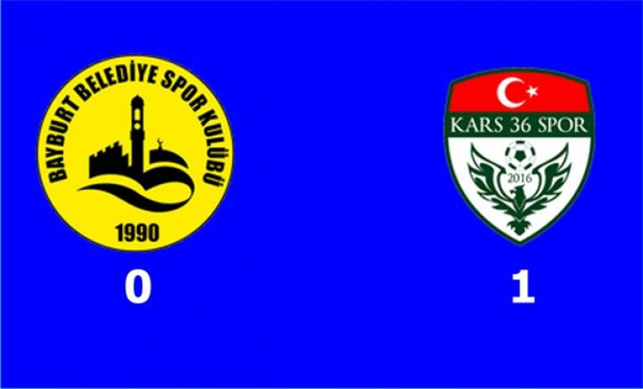 Bayburt Belediyespor: 0 – Kars36 Spor: 1