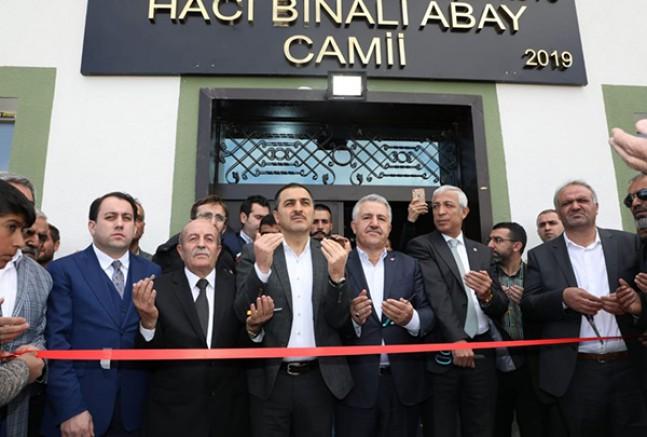 Digor Türkmeşen köyünde, Hacı Binali Abay Cami ibadete açıldı
