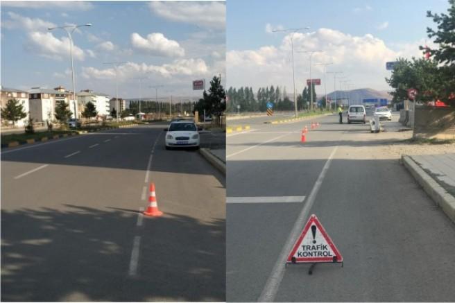 Kars'ta, 222 araç ve sürücüye trafik cezası