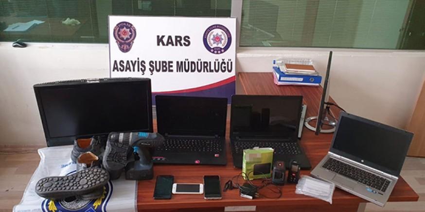 Kars'ta, 8 ayrı ikametten hırsızlık yapan şüpheli yakalandı