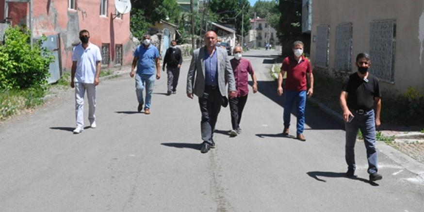 Kars'ta, Fevzi Çakmak mahalle sakinleri sokağa döküldü