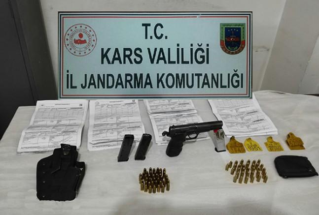 Kars'ta, Jandarma hayvan hırsızlarını yakaladı