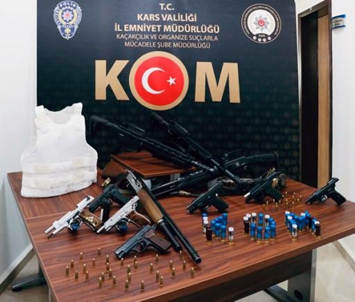Kars'ta, organize suç örgütü operasyonu: 22 gözaltı