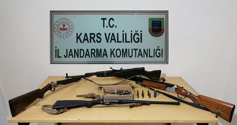 Kars'ta, silah operasyonu