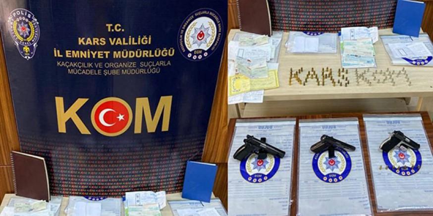 Kars'ta, tefecilere operasyon: 6 gözaltı