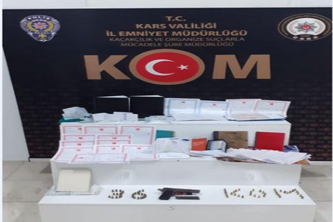 Kars'ta tefecilik operasyonunda 6 kişi gözaltına alındı