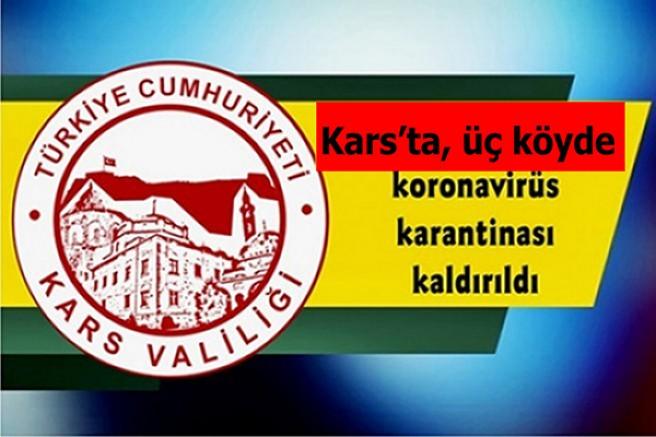 Kars'ta, üç köyde koronavirüs karantinası kaldırıldı