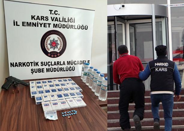 Kars'ta, uyuşturucu ticareti yapan 1 şahıs tutuklandı