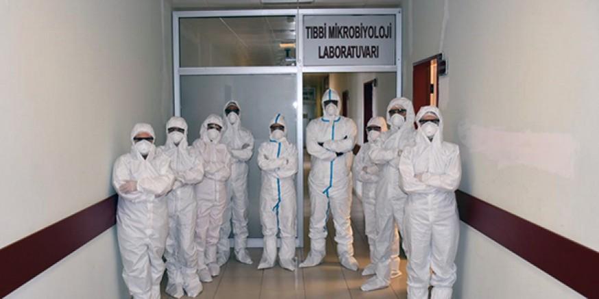 KAÜ'de, koronavirüs testi başladı
