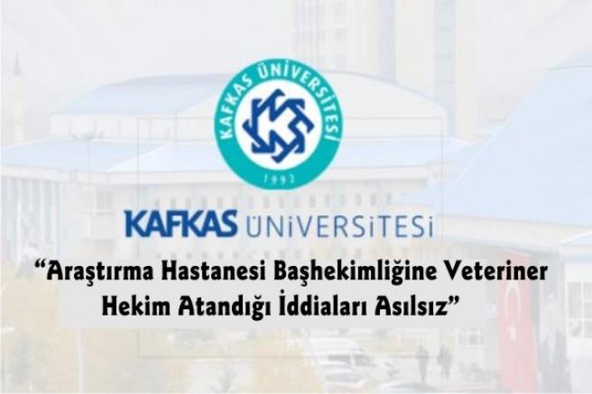 """KAÜ'den """"Başhekim"""" açıklaması"""