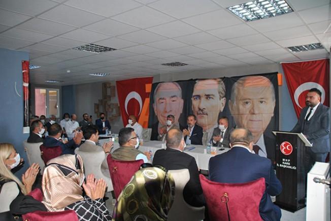 MHP Kars Merkez İlçe Başkanı Uğur Boy, yeniden seçildi