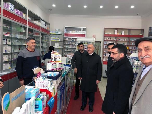 Milletvekili Arslan ve il Başkanı Çalkın, esnafları ziyaret etti