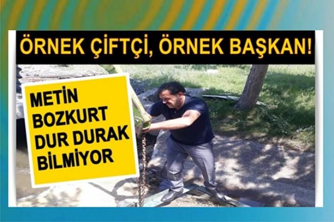 Örnek Başkan Metin Bozkurt, dur durak bilmiyor