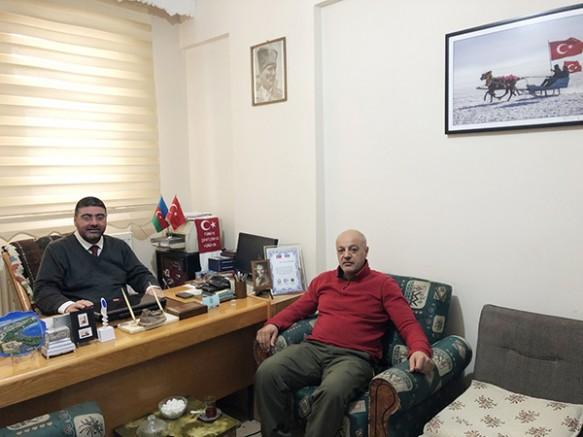 Şube Müdürü Yücel Yücel'den Ercüment Daşdelen'e 'hayırlı olsun' ziyareti