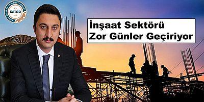 """Alibeyoğlu: """"Faiz ve malzeme fiyat artışı inşaat sektörünü vurdu"""""""