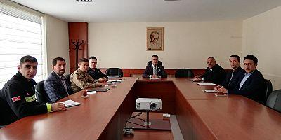 Kağızman'da ilçe trafik komisyonu toplantısı