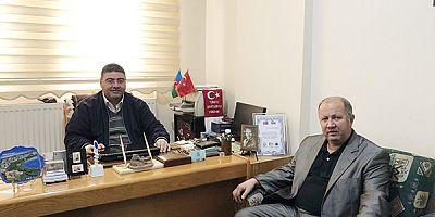 Kağızman fm radyo sahibi Ali Çelik'ten, Ercüment Daşdelen'e 'hayırlı olsun' ziyareti
