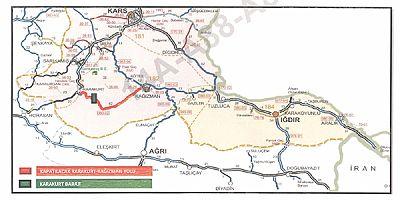 Kağızman-Karakurt-Erzurum yolu kapatılacak