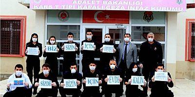 Kars kapalı cezaevinde koronavirüs tedbiri