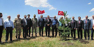 Kars'ta, 15 Temmuz Hatıra Ormanına fidan dikildi
