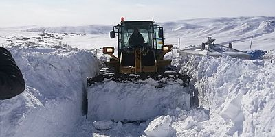 Kars'ta 2 köy yolu ulaşıma kapalı