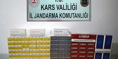 Kars'ta, kaçak sigara ele geçirildi