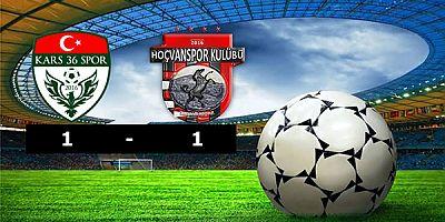 Kars36 Spor: 1  - Hoçvanspor: 1