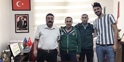 Karsspor taraftar grubundan Başkan Ercüment Daşdelen'e ziyaret