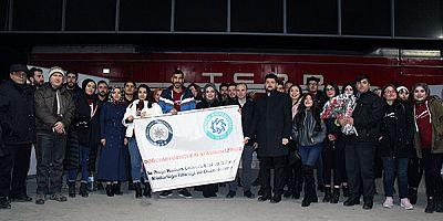 KAÜ öğrencileri, Doğu Ekspresi ile Ankara gezisine gönderildi