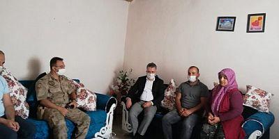 Kurban Bayramında Şehit aileleri ziyaret edildi