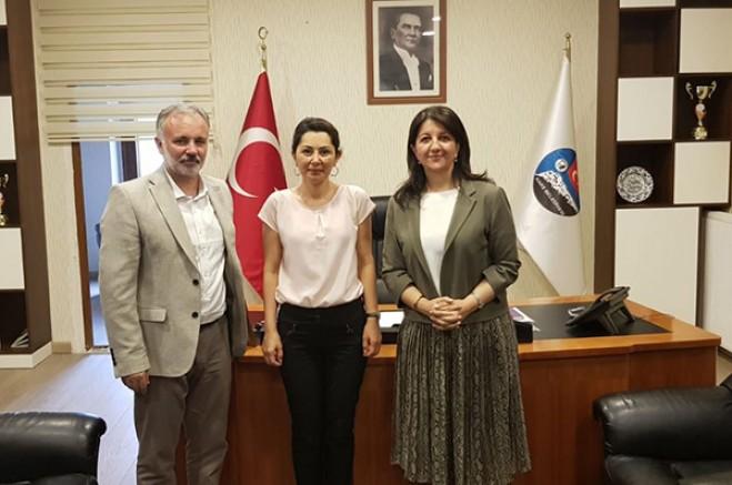 HDP Eş Genel Başkanı ve TBMM Başkan Vekili Pervin Buldan Kars'ta