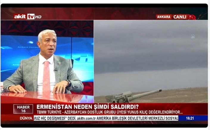 TBMM Türkiye-Azerbaycan Dostluk Grubu Üyesi Yunus Kılıç son durumu değerlendirdi