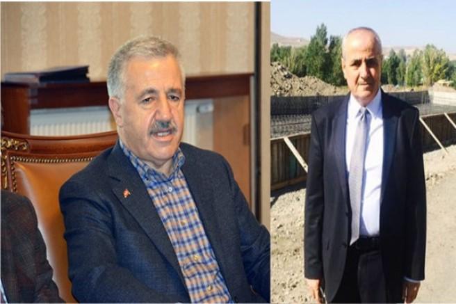 UDH Bakanı Arslan'dan Akyaka Belediye Başkanı Toptaş'a taziye mesajı